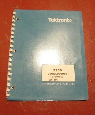Tektronix Model 2235 Oscilloscope Operators Instruction Manual 0704207-00