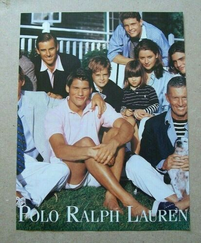 Ralph Lauren 1POLO (Preppie Family Photo) 1998 Ad Vintage/Magazine/Print/Fashion