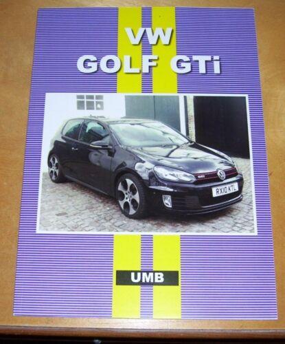 VOLKSWAGEN+VW+GOLF+GTi+ROAD+TEST+REPRINT+BOOK.+1981-1994+UNIQUE+MOTOR+BOOKS+UMB