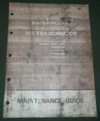 Cat Caterpillar 955 Traxcavator Maintenance Book Manual 61h 53h 48h 31j