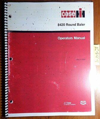 Case Ih International Harvester 8420 Round Baler Owners Operators Manual 1187