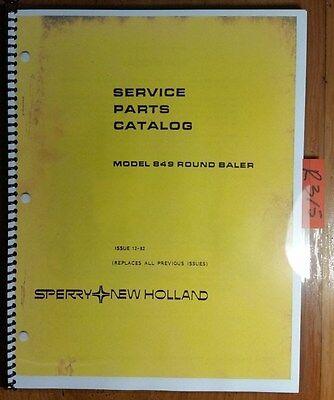 New Holland 849 Round Baler Service Parts Catalog Manual 5084911 1282