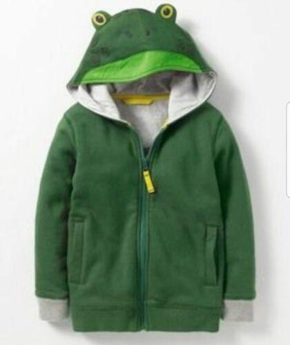 GUC Mini Boden Green Frog 5-6 Years Zip Hoodie Boys