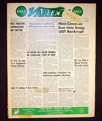 Daily Variety Hollywood 1973 King Boxer 5 Fingers of Death Godfather Best