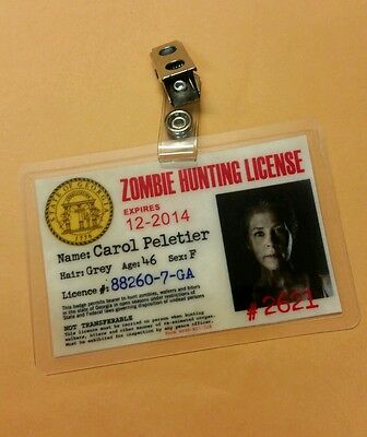 The Walking Dead Id Badge-Zombie Jagd Carol Peletier Kostüm Requisite Cosplay
