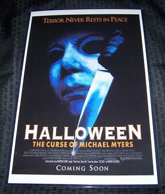 Halloween 6 Movie (Halloween 6 The Curse of Michael Myers 11X17 Original Movie Poster George)