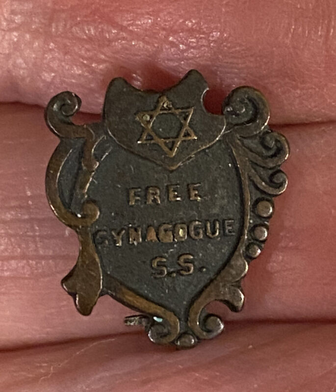 """Vintage Stephen S. Wise Free Synagogue with Star of David Pin 1/2"""""""