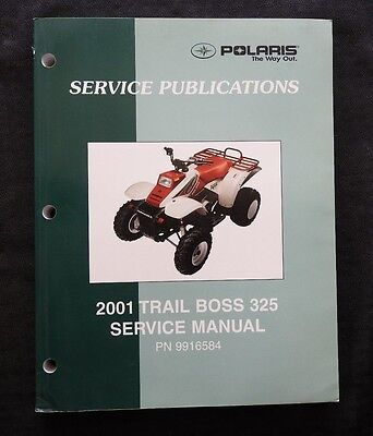 2001 POLARIS TRAIL BOSS 325 ALL TERRAIN VEHICLE ATV SERVICE REPAIR MANUAL NICE