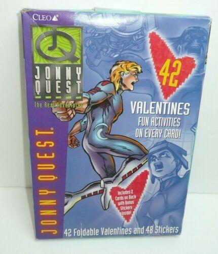 Vintage Jonny Quest Valentines Day Cards Cartoon Network Cleo vtg 1996