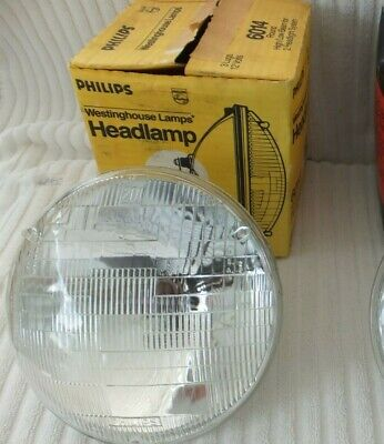 NOS ~ VINTAGE Westinghouse Phillips 6014 Low/High Beam All Glass Headlight