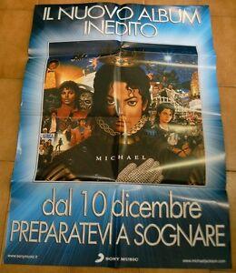 MICHAEL JACKSON poster promozionale album MICHAEL - Italia - MICHAEL JACKSON poster promozionale album MICHAEL - Italia