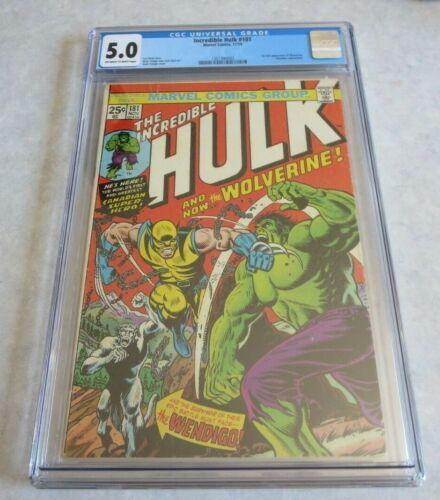 Incredible Hulk 181 CGC 5.0 Very Nice! Great Color!!