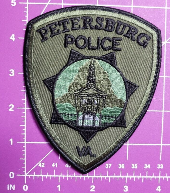 Petersburg Virginia POLICE-shoulder patch new OD Green style