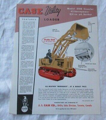 Case 310e Utility Loader Specification Sheet Brochure