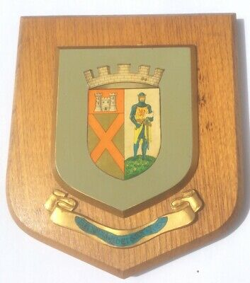 VINTAGE HAND PAINTED HERALDIC LOCHMABEN WALL PLAQUE SHIELD