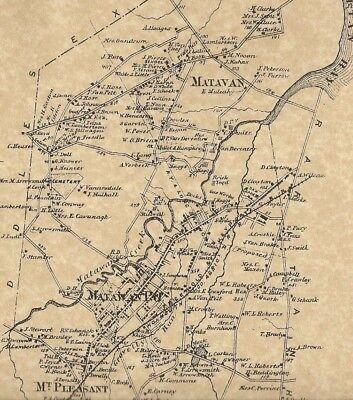 Aberdeen Cliffwood Freneau Matawan NJ 1873 Maps with Homeowners Names Shown segunda mano  Embacar hacia Argentina