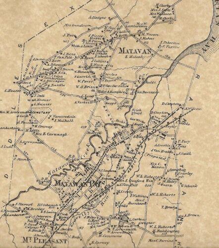 Aberdeen Cliffwood Freneau Matawan NJ 1873 Maps with Homeowners Names Shown