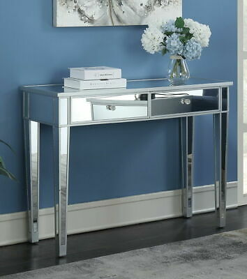 Mirrored Console Table With 2 Drawers Storage Dressing Table Furniture