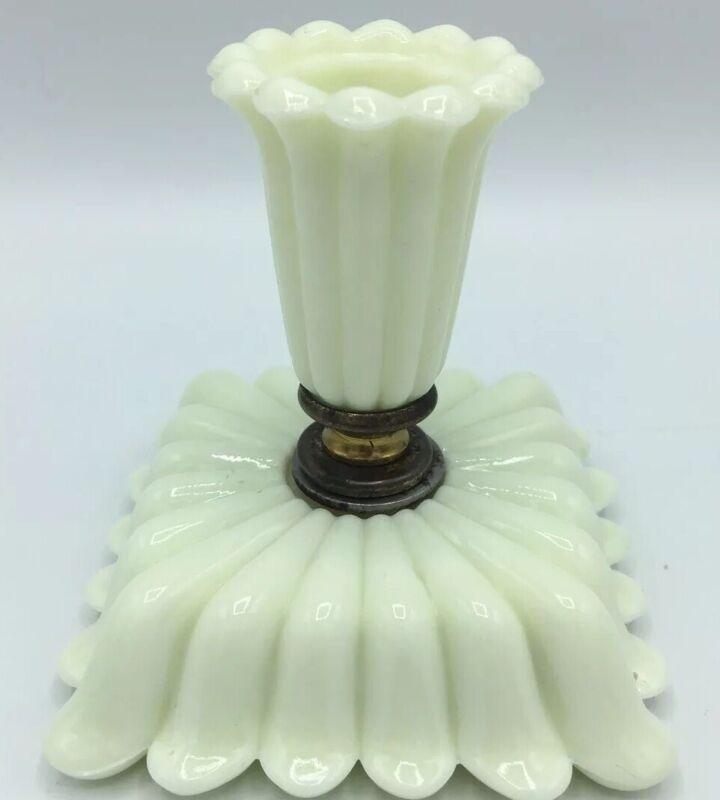 """Alacite Candle Stick/Holder 3.5"""" X 3.75"""" Uranium Vintage Antique"""