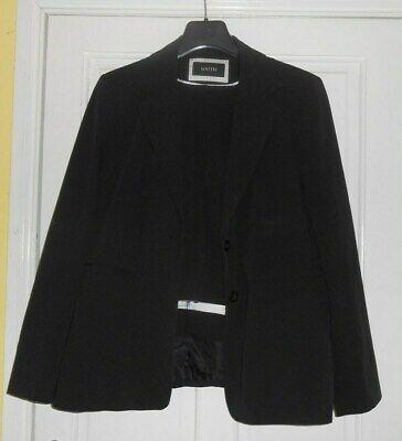 Ladies Black Trouser Suit Size 18 South