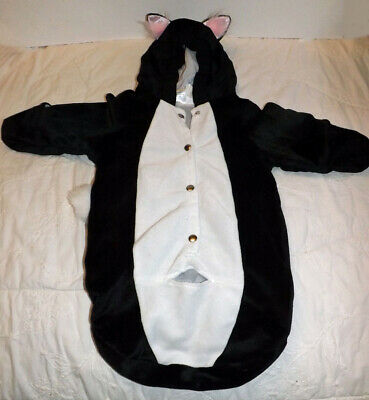 Celebration Halloween Inc Black Cat Baby Costume 0- 12 Months Soft Fuzzy Bunting