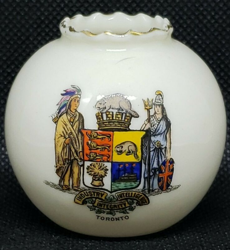 W.H. GOSS  Model of Vase Crested Toronto China Mini Miniature