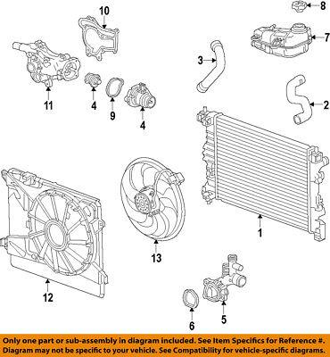 Buick GM OEM 14-15 Encore-Radiator Cooling Fan Blade 95301357