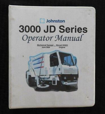 2005 Johnston 3000 Jd Series Street Sweeper Broom Operators Manual John Deere