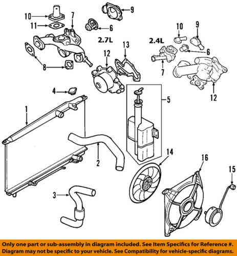 [WQZT_9871]  HYUNDAI OEM 01-06 Santa Fe-Engine Coolant Thermostat 2550037200 | eBay | 2015 Hyundai Santa Fe Engine Diagram |  | eBay