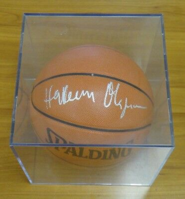 6f31dcc301c4 Hakeem Olajuwon NBA HOF Signed Official Game Basketball with Case