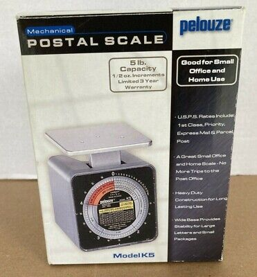 Pelouze Model K5 Tabletop Mechanical Postal Scale Capacity 5 Lb X 12 Oz Vintage