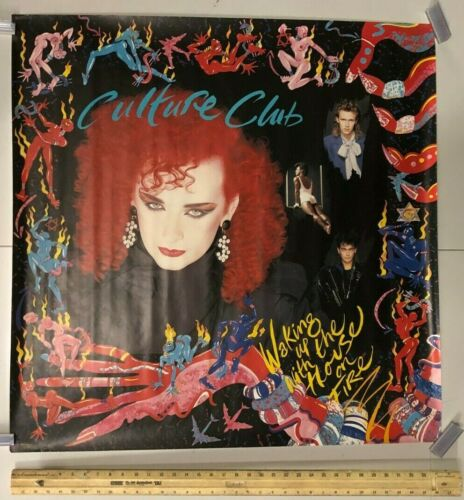 HUGE SUBWAY POSTER Culture Club Waking Up With The House On Fire 1980