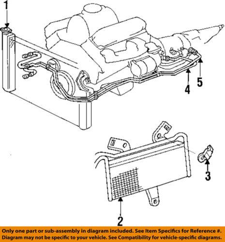 Dodge CHRYSLER OEM Ram 3500 Transmission Oil Cooler-Hose & Tube Assy  52029303AC   eBayeBay