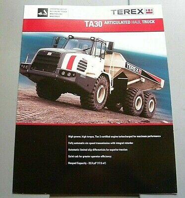 Factory Terex Ta30 Articulated Haul Truck Dealership Brochure
