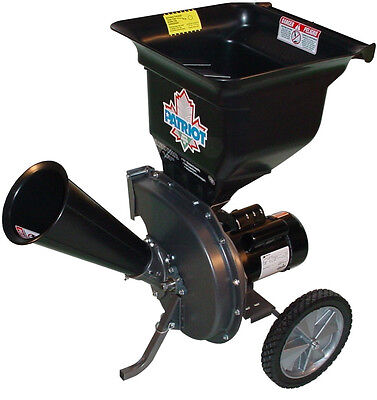 NEW Patriot CSV-2515 1.5 hp Electric Wood Chipper Leaf Shredder