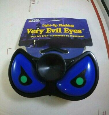 Vintage Light Up Flashing Very Evil Eyes Window Suction Cup by Paper Magic Group