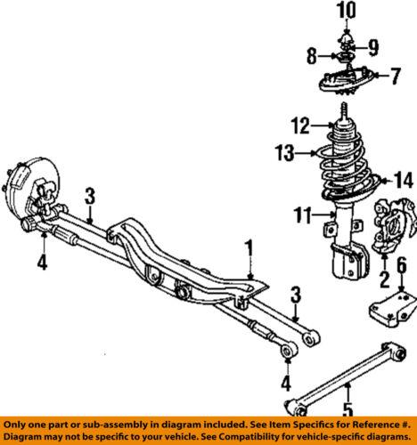 Pontiac    GM OEM    97   99    Grand    Prix Rear SuspensionStrut