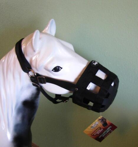 TOUGH ONE POLY/NYLON MINIATURE HORSE BLACK GRAZING MUZZLE