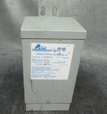 Acme Transformer T-2-53011-s 480v 1.5kva 60hz 1-phase Warranty Included