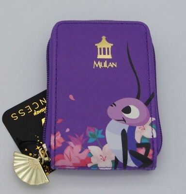 Loungefly Disney Mulan Cri-Kee Purple Cardholder ID Card Fan Wallet Crickee