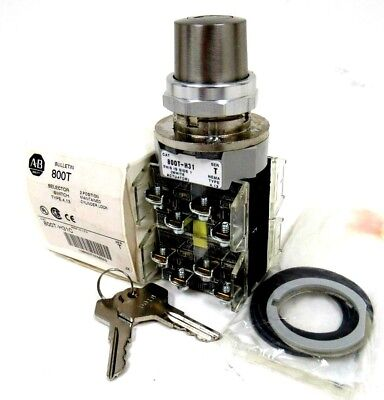 Nuevo ALLEN BRADLEY 800T-H31C Selector Interruptor Servo T 800TH31C