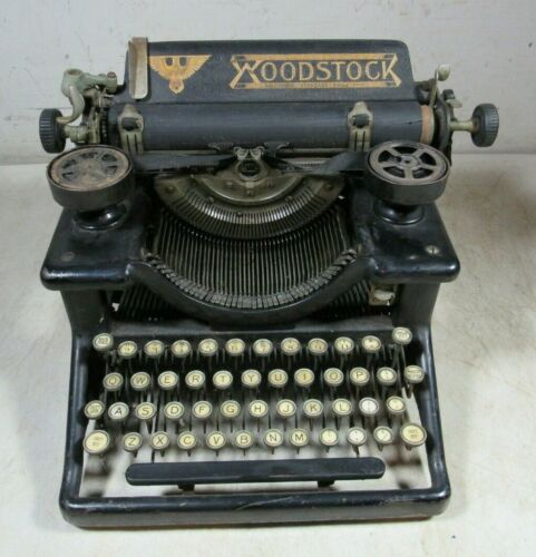 Antique 1916 Woodstock Typewriter Eagle