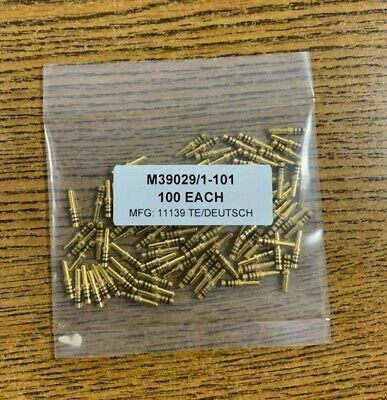 Lot Of 100 Deutsch M390291-101 Mil-spec Pin Contact 20awg