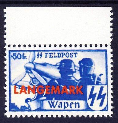 wwII Flämische Legion Langemark MiNr. XX gezähnt  REPLICA, Fälschung