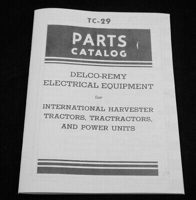 Delco-remy Mccormick-deering Farmall Parts Catalog International Harvester Ih