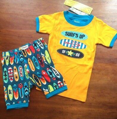 New Hatley Boys Surfboard PJ Set Top & Shorts sz