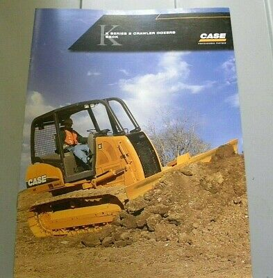 Factory 2005 Case K Series 2 Crawler Dozers 650k Sale Dealership Spec Brochure