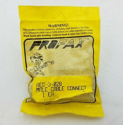 Profax Aec 3-028 Male Cable Connector Welding Equipment Replacement Repair Parts