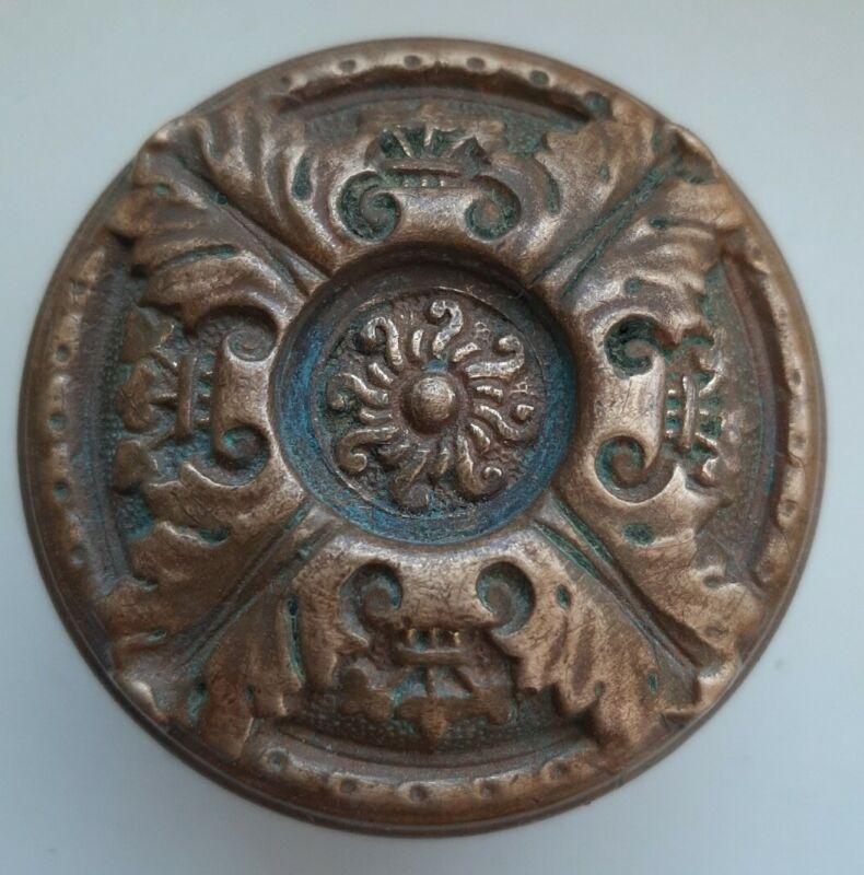 Antique Victorian Door Knob Corbin St Cloud Brass Bronze H 43000