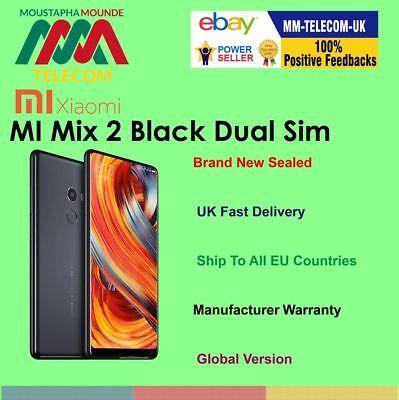 BRAND NEW SEALED FACTORY UNLOCKED XIAOMI MI MIX 2 64GB BLACK DUAL SIM GLOBAL